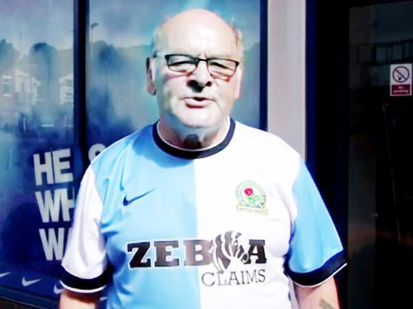 This Is Lancashire: Blackburn Rovers' kit launch video featuring well-known fan Alan 'Birdy' Birkbeck