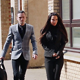 Gareth Varey pictured with Tulisa Contostavlos during their trial