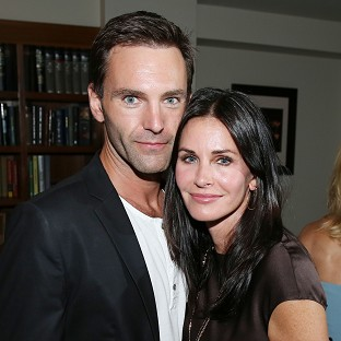 Courteney Cox and Johnny McDaid have travelled to Ireland
