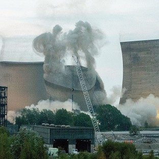Power station towers demolished