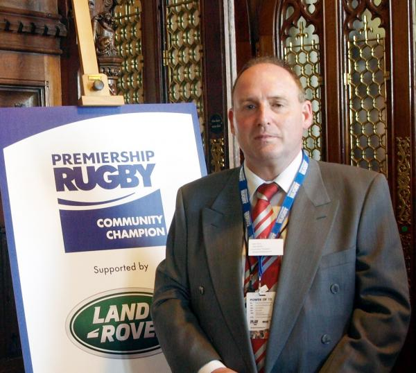 Peter Gore has received The Premiership Rugby Community Champion Award