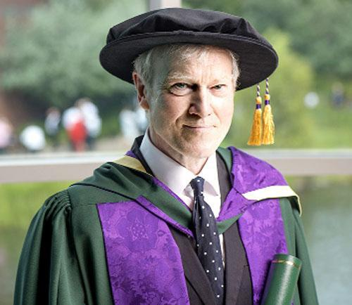 PROUD John Foxx receives his degree