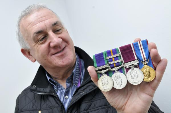 David Bowyer's pride in his army roots