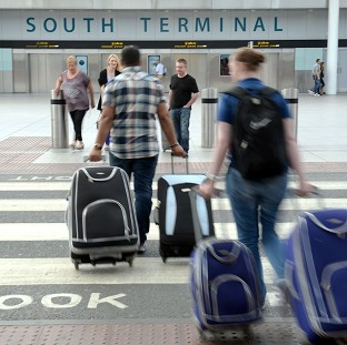 A Gatwick Airport spokesman said the 'vast majority' of flights had met the time targets for returning luggage