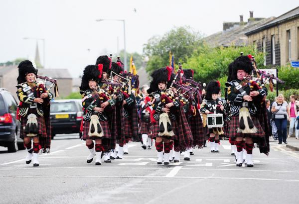 Pipers lead the way for street parade