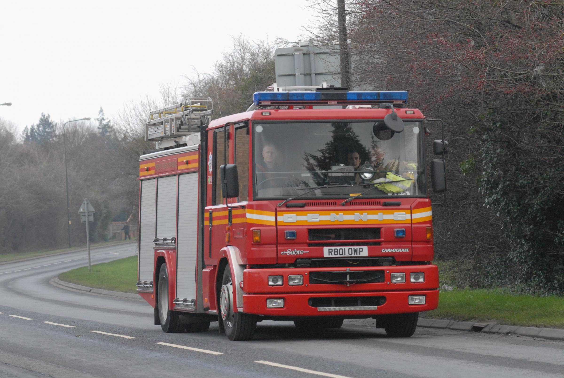 Fire crews tackle Burnley garage blaze
