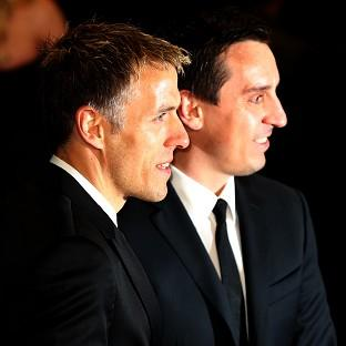 Phil Neville (left) with brother Gary at a film premiere
