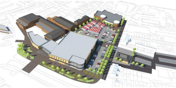 PLANS An impression of how the Market Walk extension could look