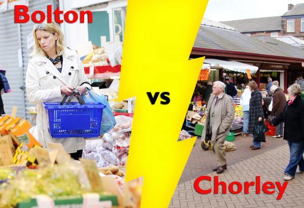 Bolton vs Chorley - we highlight some of the towns' contrasting merits...