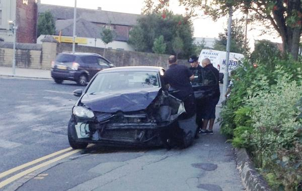 Car crash in Bolton town centre