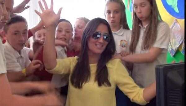A still from Guardian Angels Primary School's leaving video