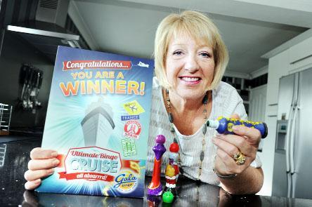 Lynda Pritchard, who's a dab hand at bingo, is looking forward to her luxury cruise won in a national competition