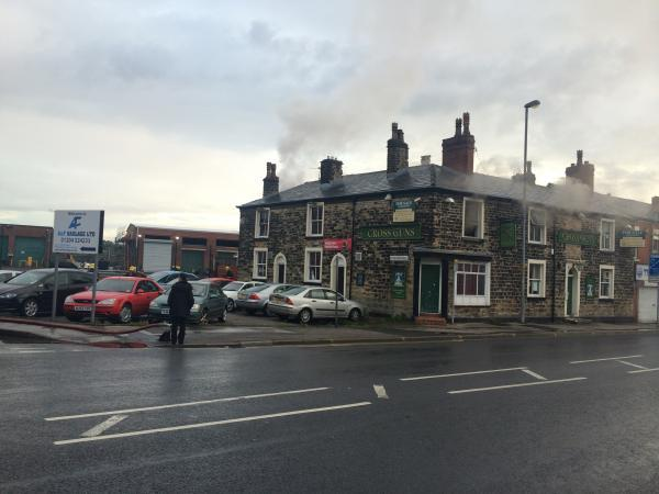 Fire at derelict former pub in Gilnow