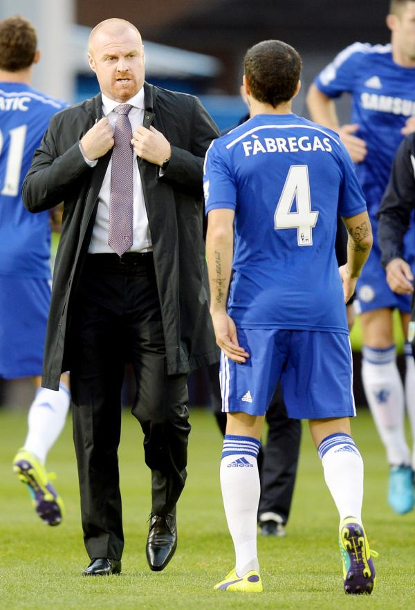 Sean Dyche and Cesc Fabregas
