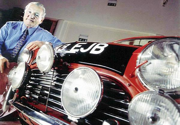 Paddy Hopkirk with his Monte Carlo Rally winning car
