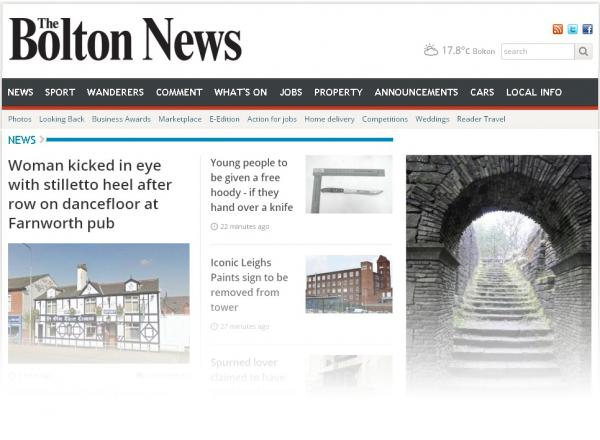 We've redesigned The Bolton News website to make it more user-friendly.