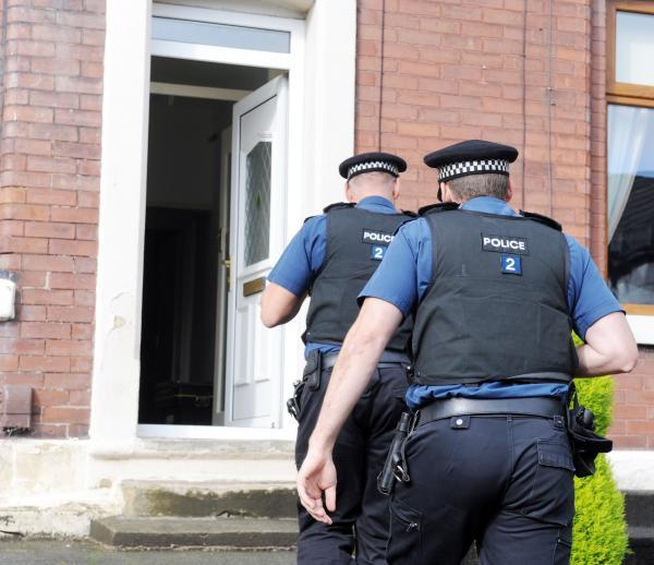 Police carried out a raid on a house in Wh