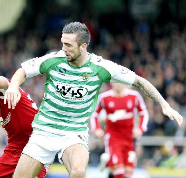 Shane Duffy during a loan spell at Yeovil last season
