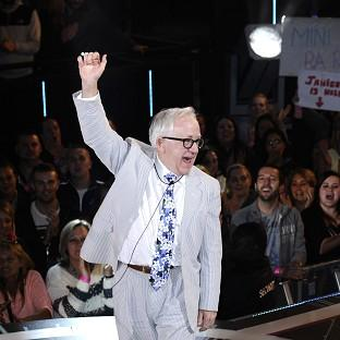 Channel 5 handout photo of Leslie Jordan as he is evicted from the Celebrity B