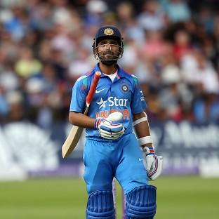 India's Ajinkya Rahane was dismissed for 45, but his innings has helped but the v