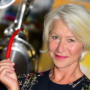 Dame Helen Mirren attending a photocall for The Hundred- Foot Journey at Le Cordon Bleu in London