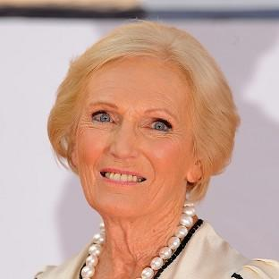 Great British Bake Off star Mary Berry.