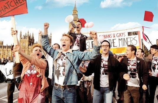 A clip from the movie Pride