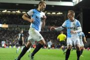 Luke Varney races to celebrate with Jordan Rhodes after his match-winning penalty on Saturday