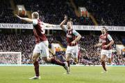 BEST GOAL OF CAREER: Ashley Barnes celebrates his stunning long range strike in Burnley's 2-1 defeat at Tottenham Hotspur on Saturday
