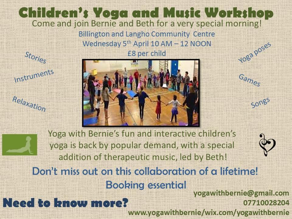 Children's Yoga and Music Workshop