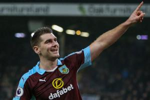 ON THE UP: Sam Vokes has delighted in proving perceptions of Burnley wrong this season