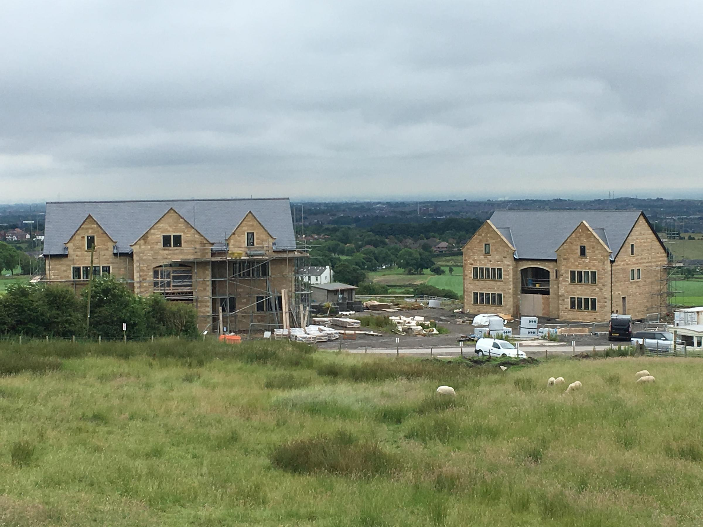 UNAUTHORISED: The homes at Grundy Fold Farm, Chorley New Road, Horwich that were built without planning permission