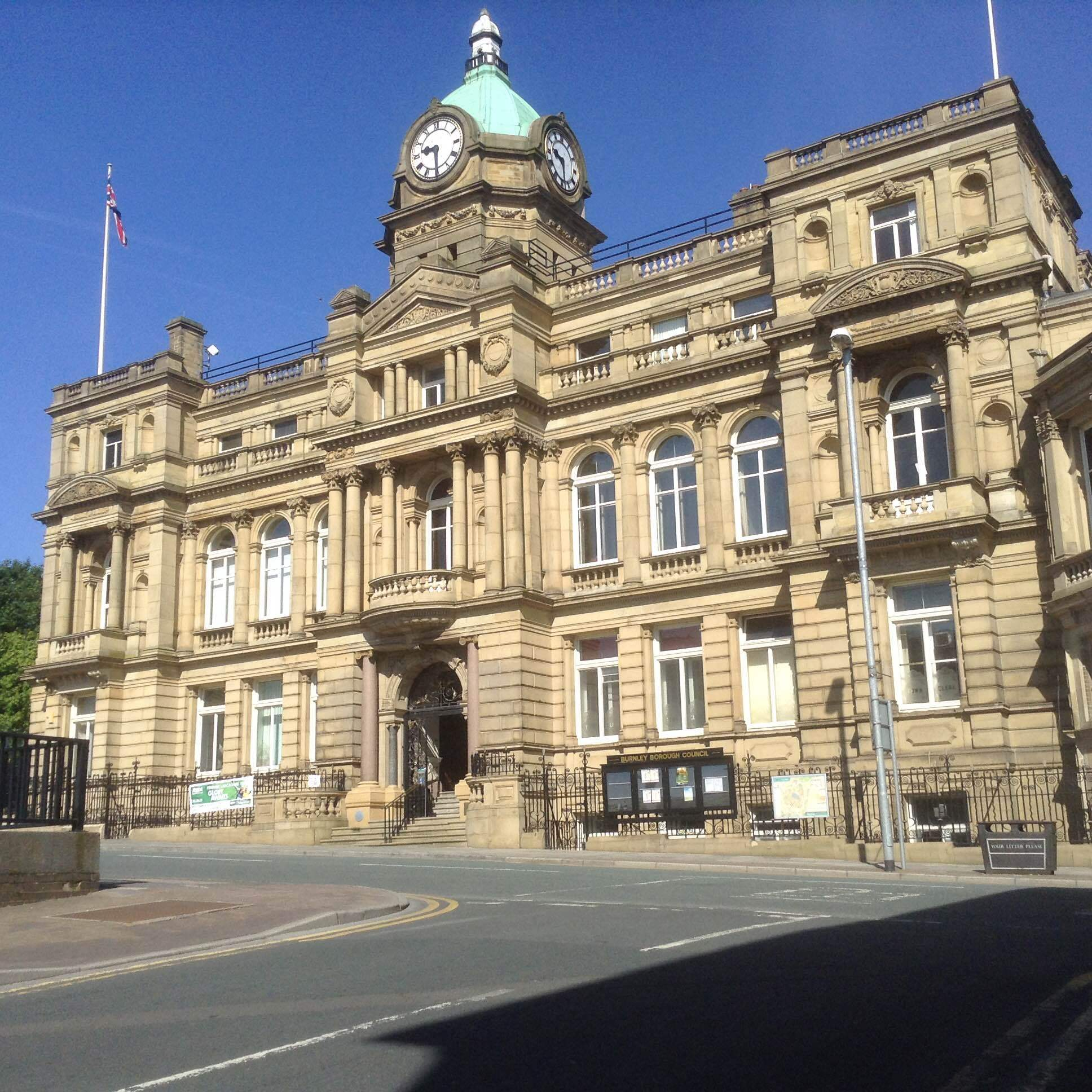 Burnley town hall..