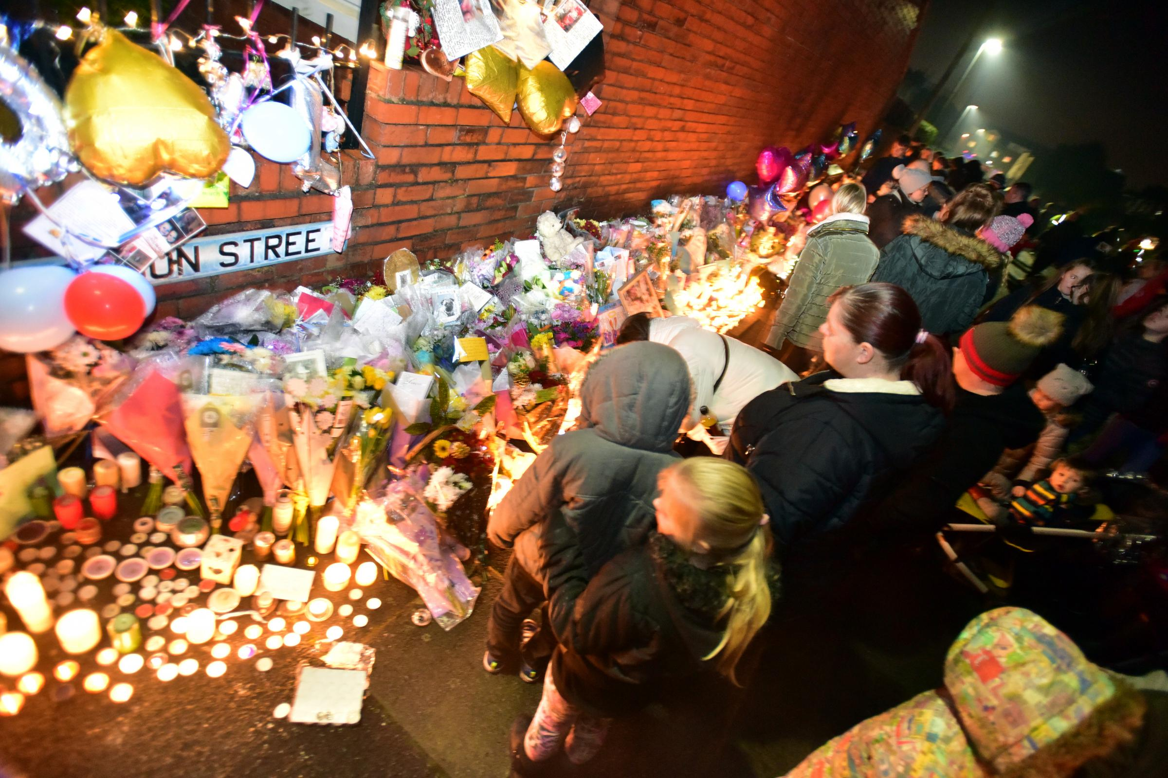 An event took place on St Mary's Road, Walkden to remember the Pearson youngsters who died in a house fire on Jackson Street.
