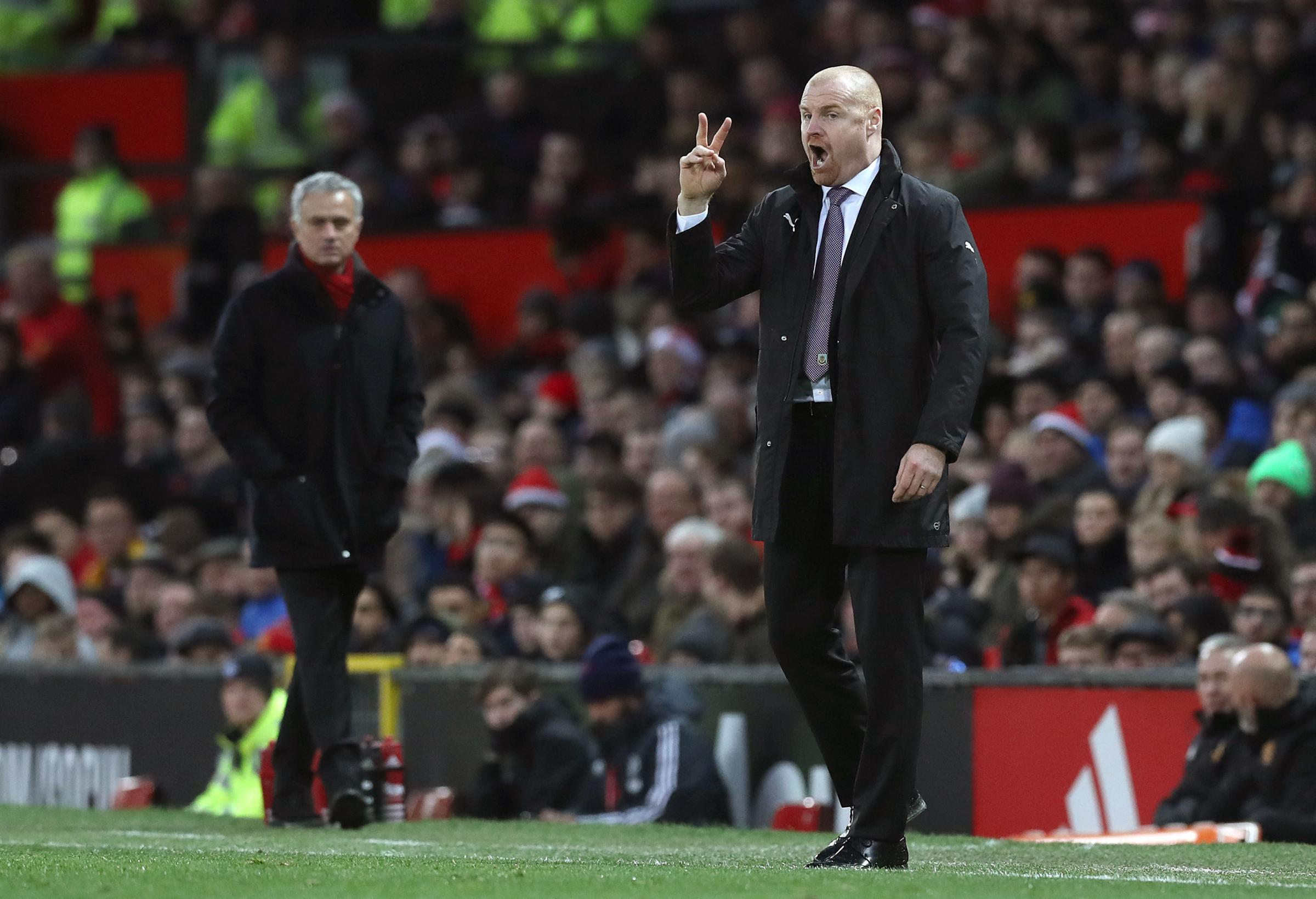 Sean Dyche has enjoyed some success against the likes of Jose Mourinho this season
