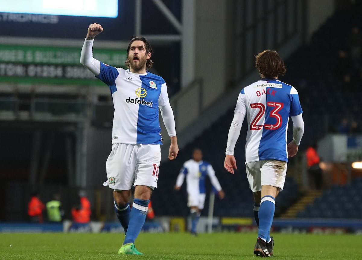 Danny GRaham scored twice for Rovers against Scunthorpe United