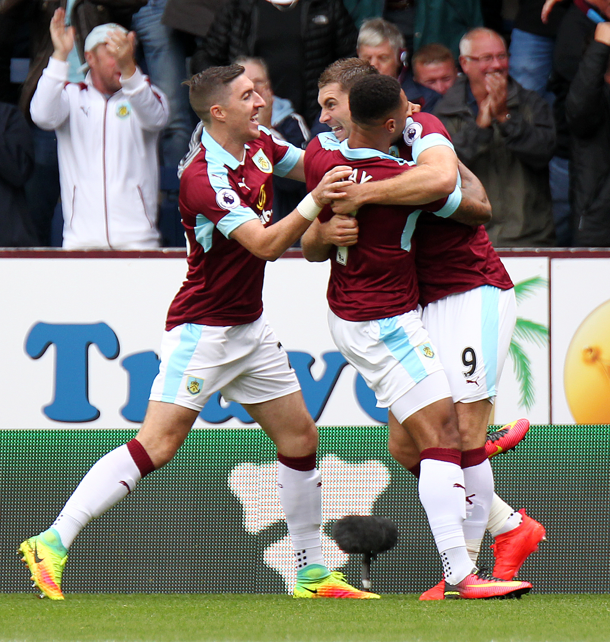 Goals from Sam Vokes and Andre Gray helped Burnley to beat Liverpool at Turf Moor last season