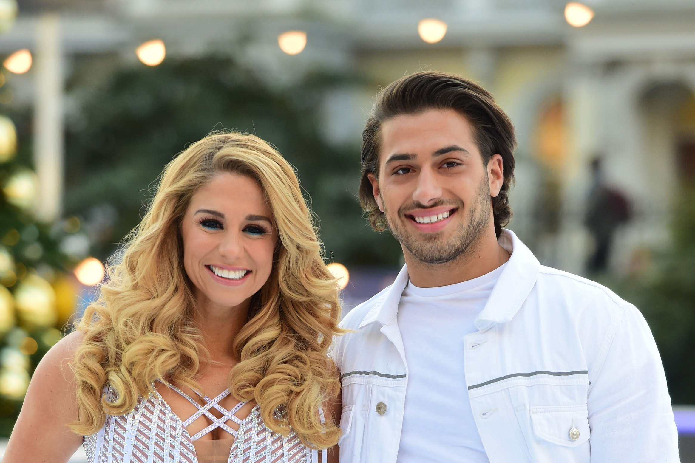 Kem Cetinay (right) and Alex Murphy during the press launch for the upcoming series of Dancing On Ice (David Mirzoeff/PA)