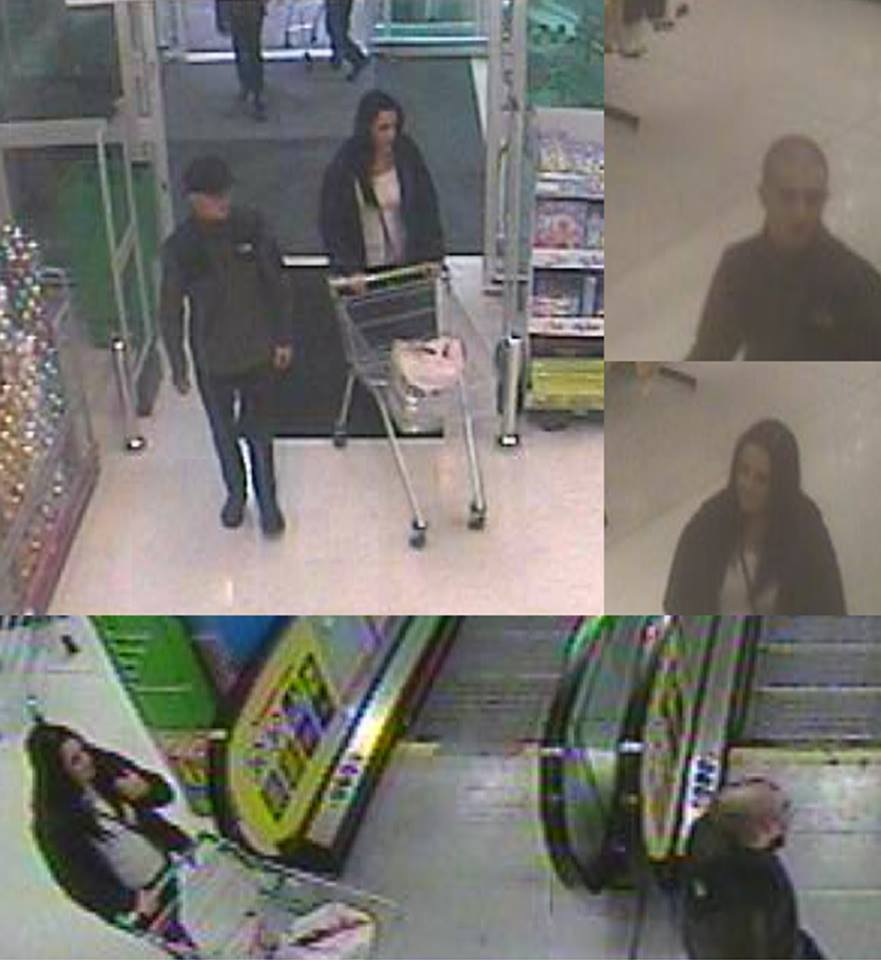 CCTV images of two people police would like to identify