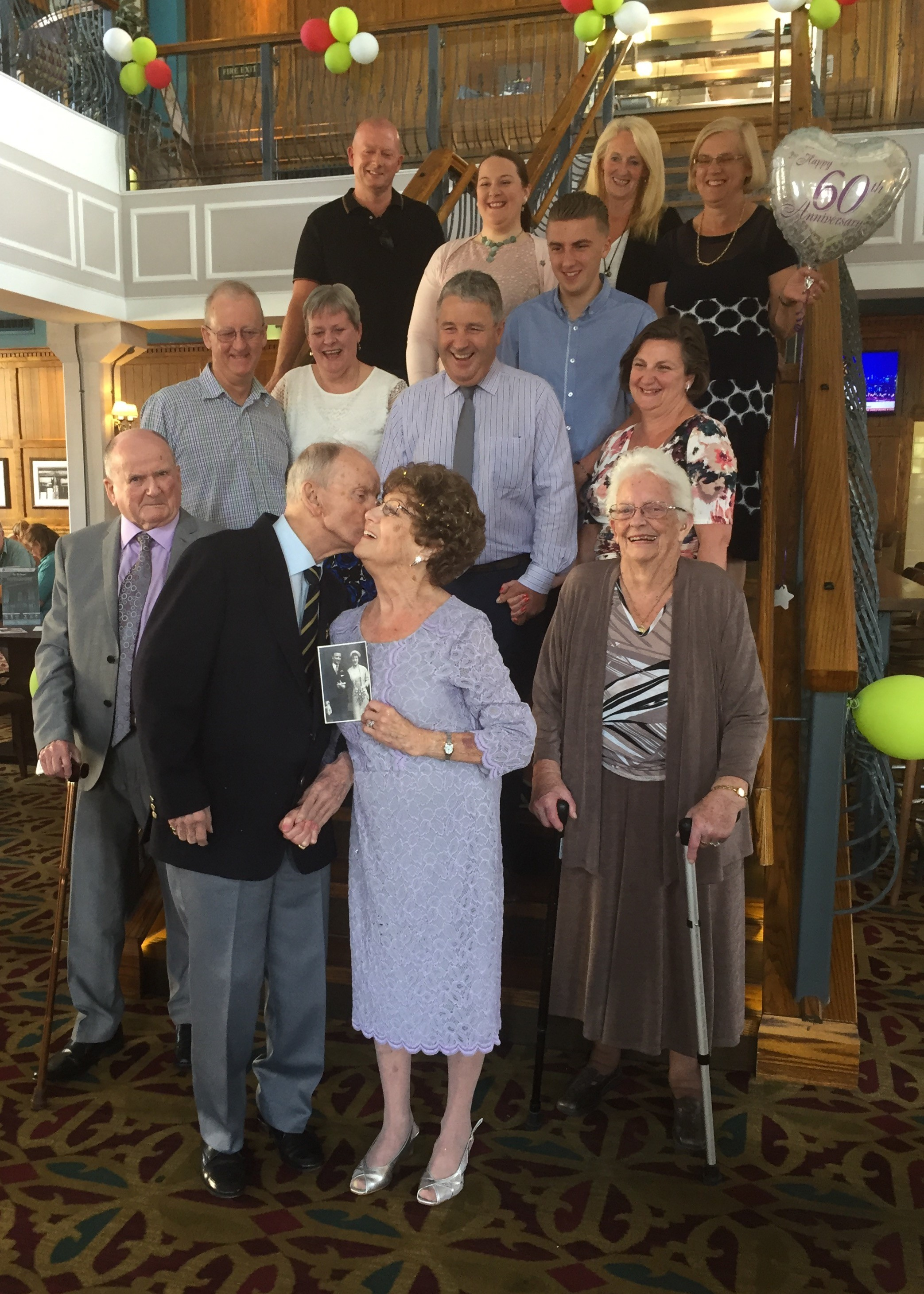 The couple celebrated their 60th wedding anniversary in The Old Chapel