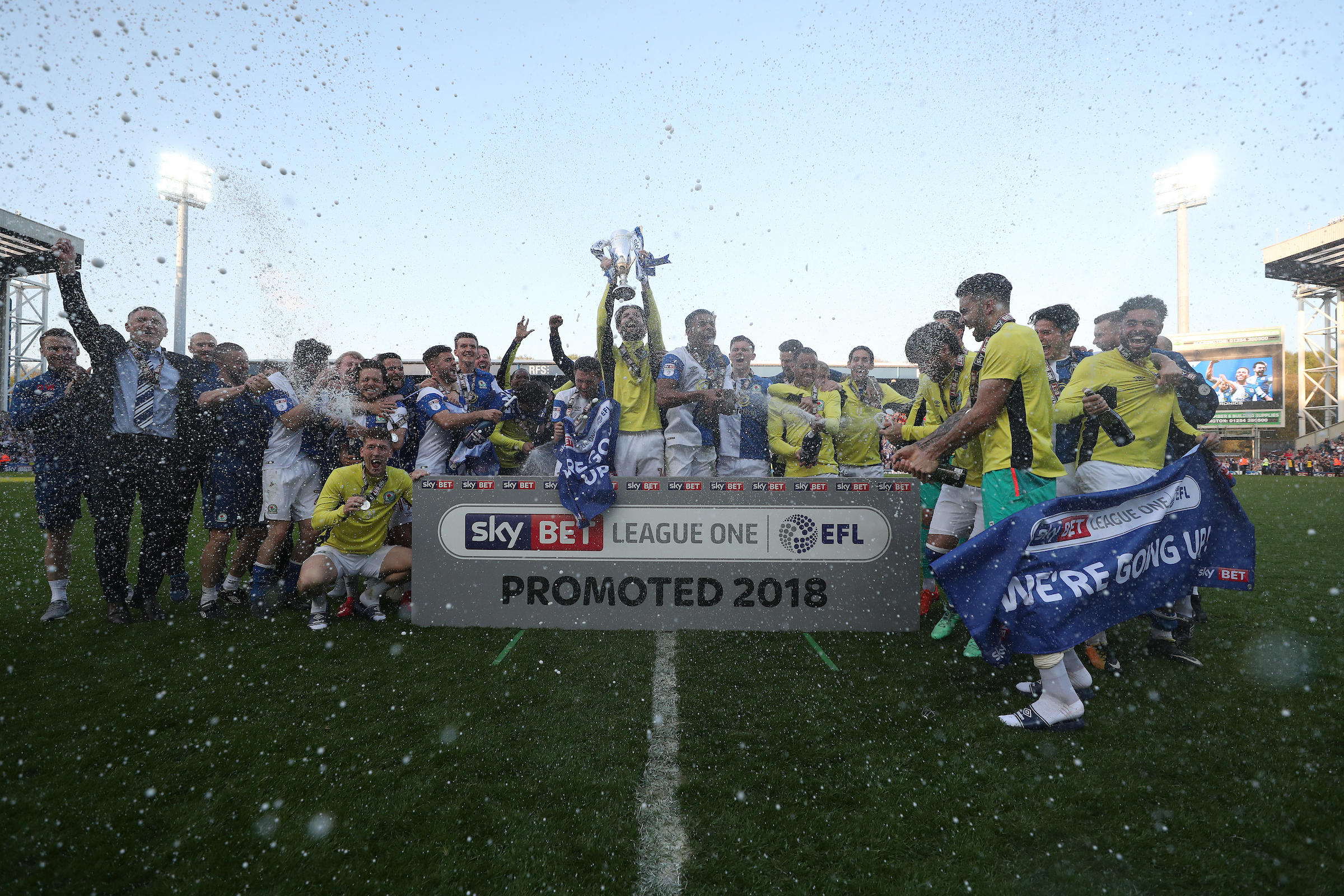 Rovers secured promotion back to the Championship at the first attempt