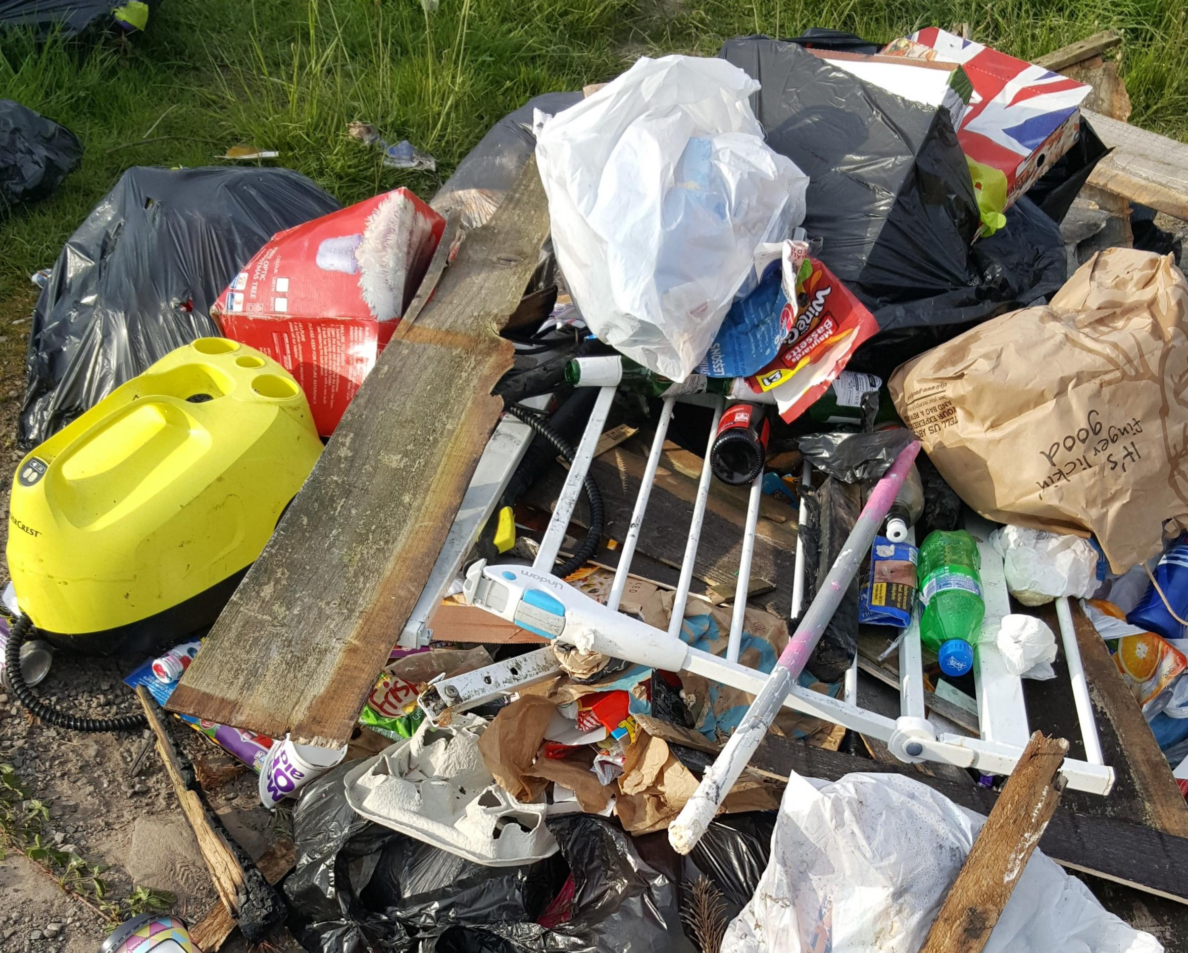Anger at fly-tipping near golf club