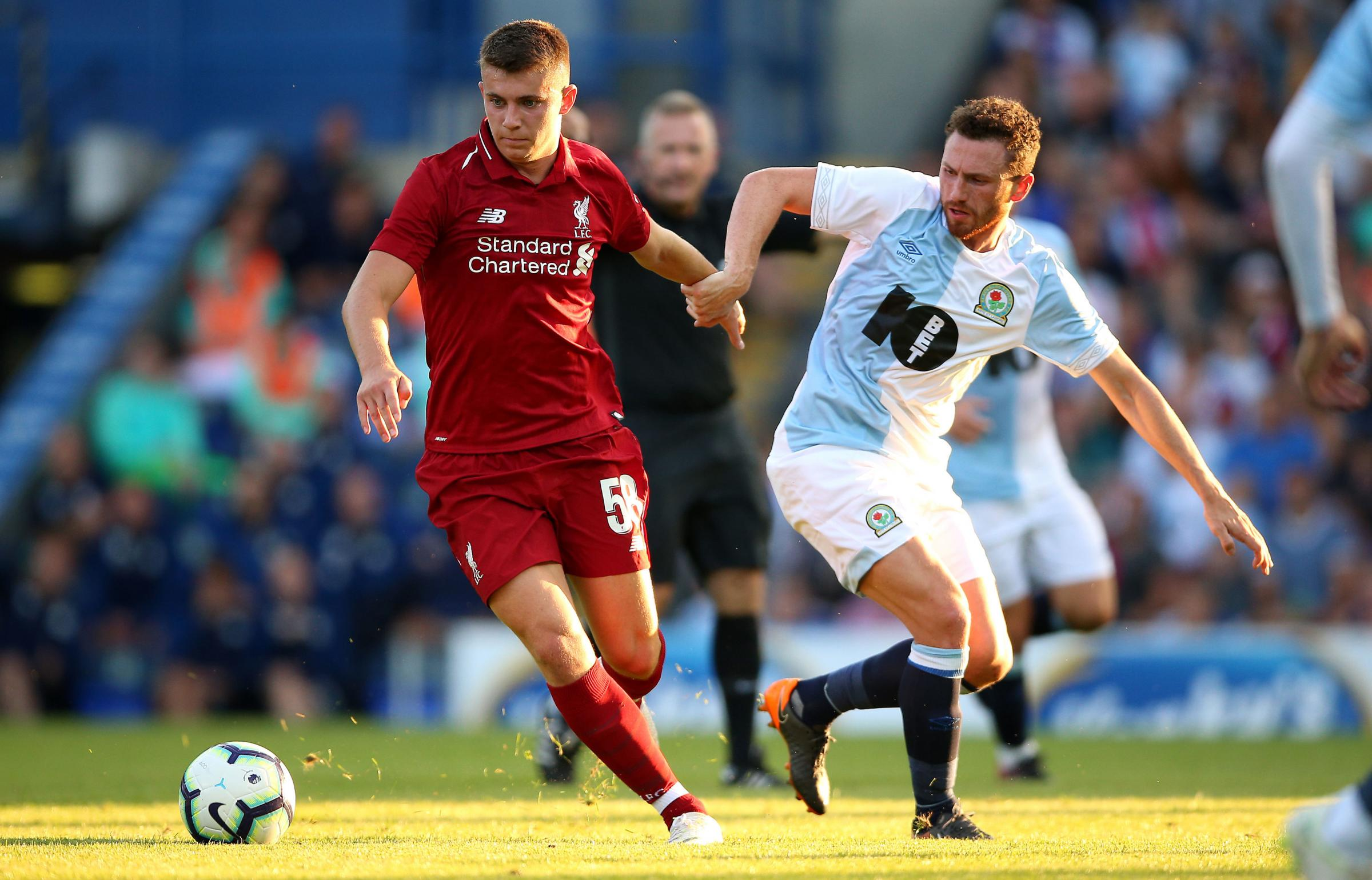 Ben Woodburn played against Rovers for Liverpool in a pre-season friendly
