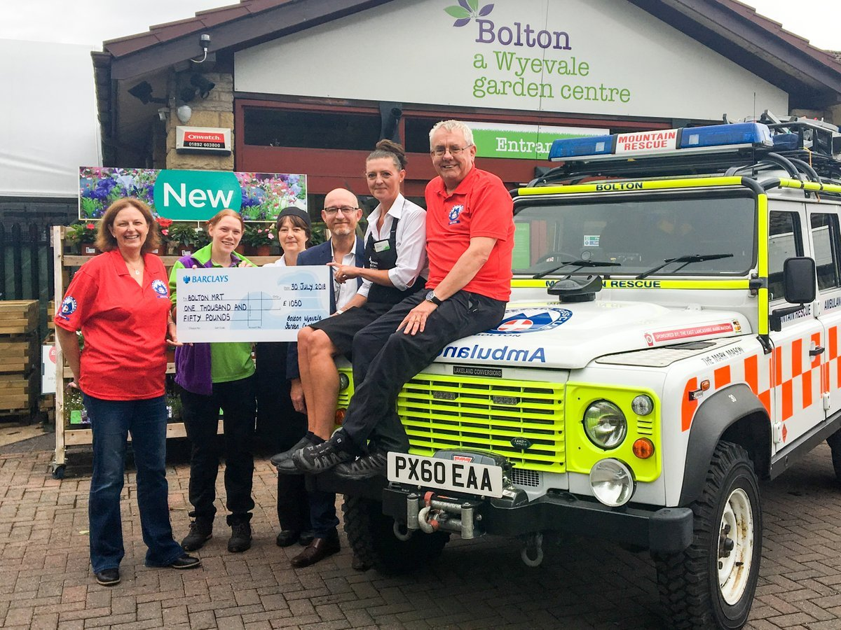 Wyevale Garden Centre Boost For Bolton Mountain Rescue Team This