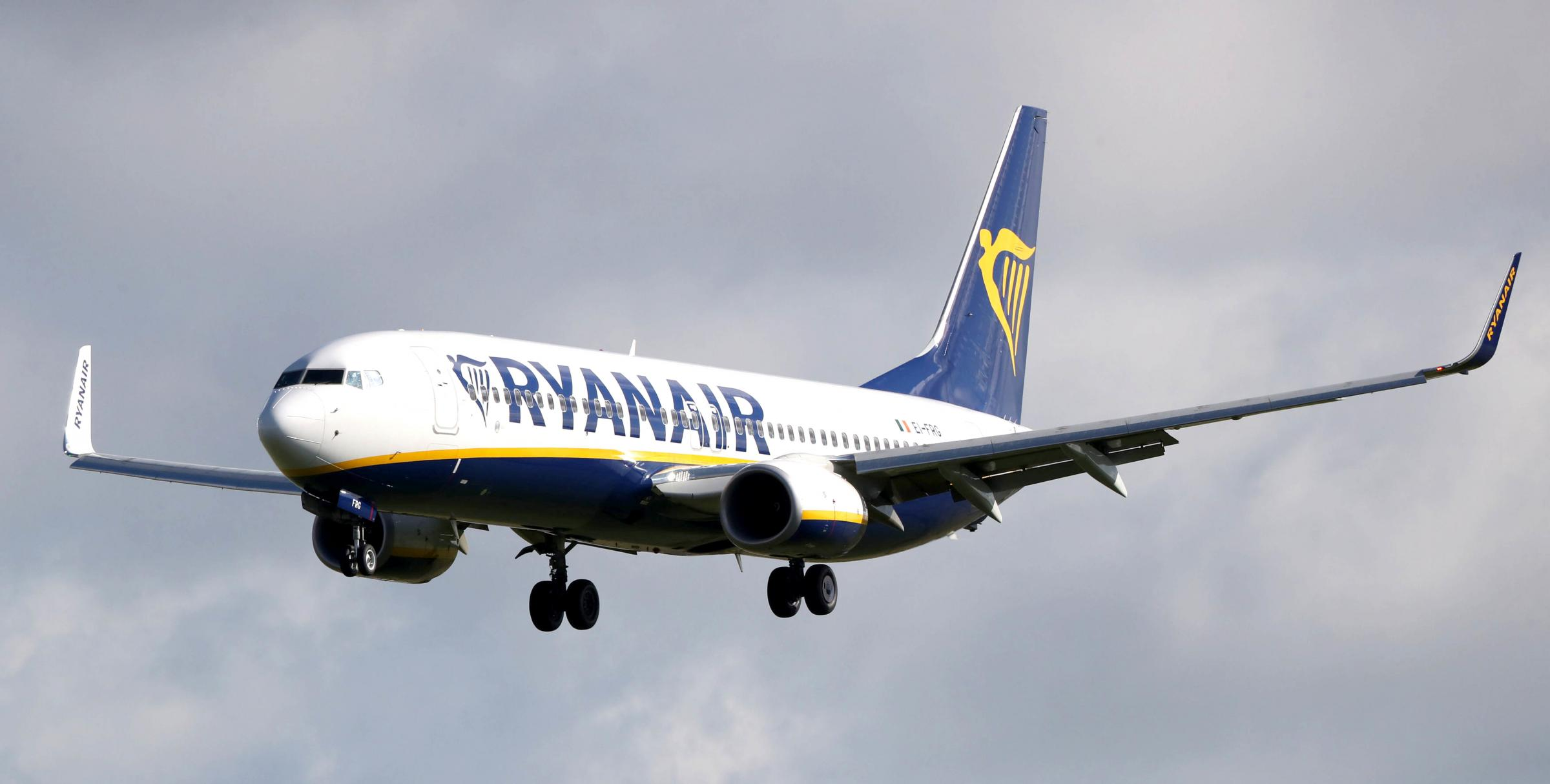 File photo dated 04/10/17 of a Ryanair plane, as hundreds of the airline's flights will not take off as planned on Friday due to pilot strikes in five countries. Staff in Ireland, Germany, Sweden, Belgium and the Netherlands are holdin