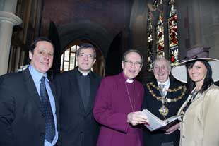 The Bishop of Manchester, the Right Reverend Nigel McCulloch with Rev John Findon, the Rector of Bury
