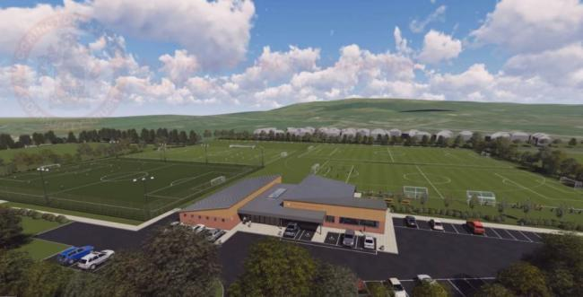 An artist's impression of how the proposed ASCT development at Higham Playing Fields will look