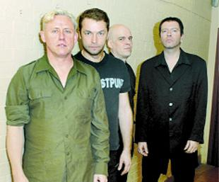 ON TOUR: Kirk Brandon (front) with Spear of Destiny