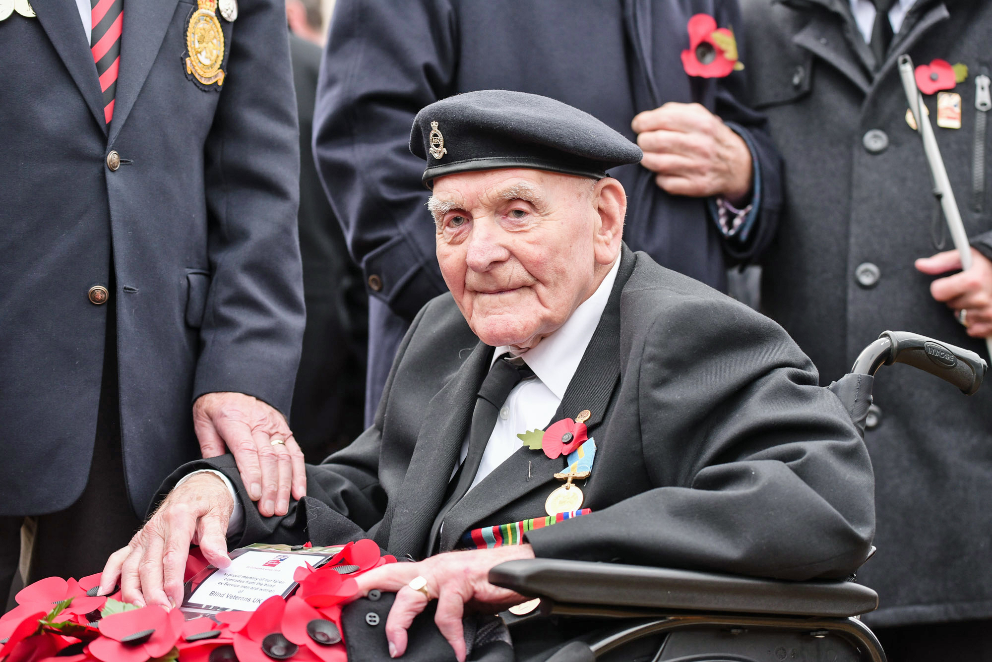 Undated handout photo issued by Blind Veterans UK of Ron Freer, who will be the oldest veteran to attend the cenotaph on Sunday for the remembrance service. PRESS ASSOCIATION Photo. Issue date: Thursday November 8, 2018. The blind veteran