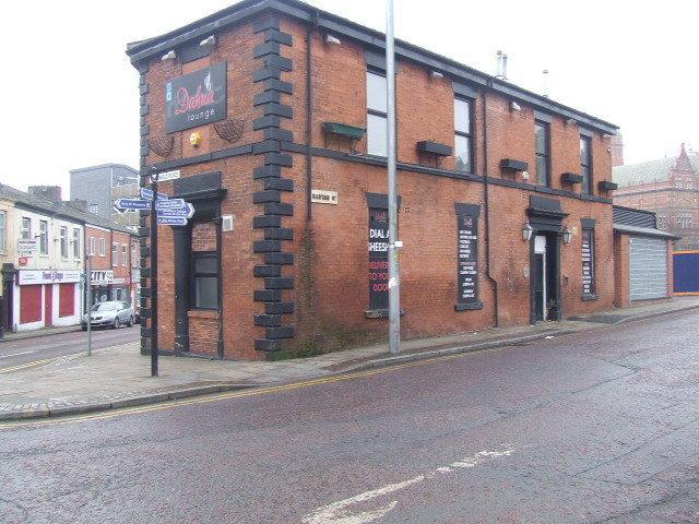 Dahna Lounge, in Cardwell Place, Blackburn, where the violence started